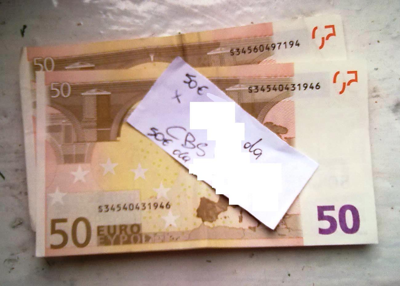 100€ in cash