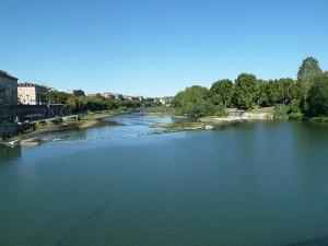 il fiume Po al centro di Torino